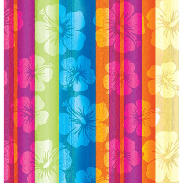 ALOHA SUMMER HIBISCUS FLOWER TABLECOVER - 15 left only