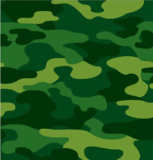 CAMO GEAR PAPER TABLE COVER