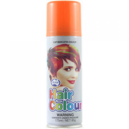 COLOURED NEON HAIR SPRAY - ORANGE BULK PACK OF 12