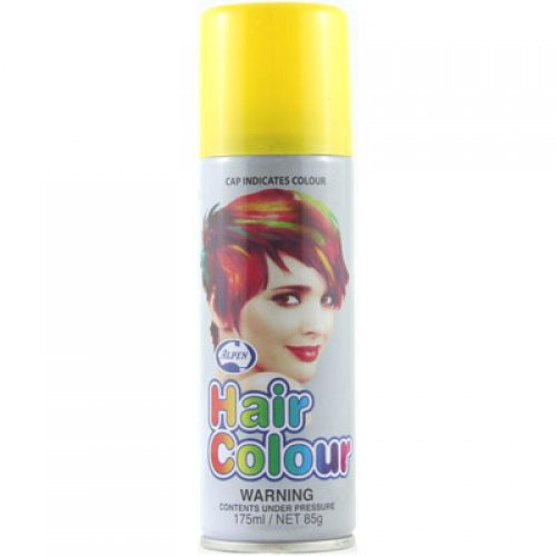 COLOURED NEON HAIR SPRAY - YELLOW BULK PACK OF 12