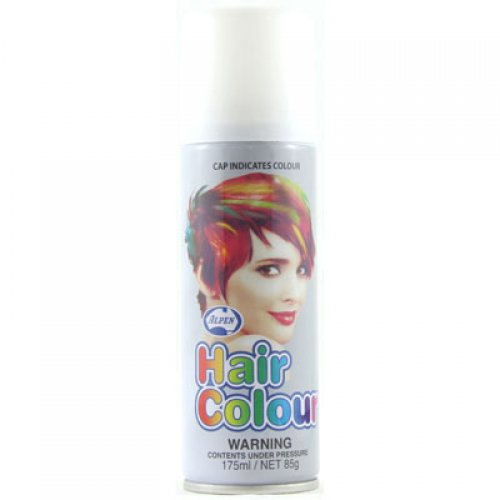 COLOURED STANDARD HAIR SPRAY - WHITE BULK PACK OF 12