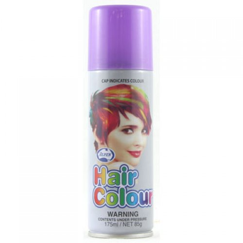 COLOURED NEON HAIR SPRAY - PURPLE BULK PACK OF 12