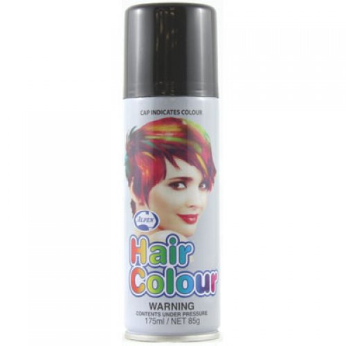 COLOURED STANDARD HAIR SPRAY - BLACK BULK PACK OF 12