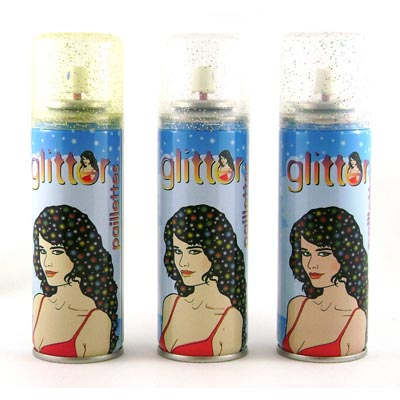 GLITTER HAIR SPRAY - CHOICE OF 3 COLOURS