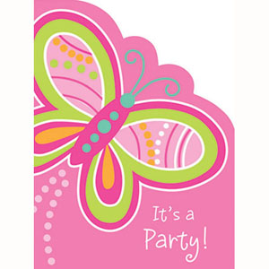 MOD BUTTERFLY PARTY INVITATIONS