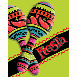 MEXICAN FIESTA INVITATIONS - 1 left only
