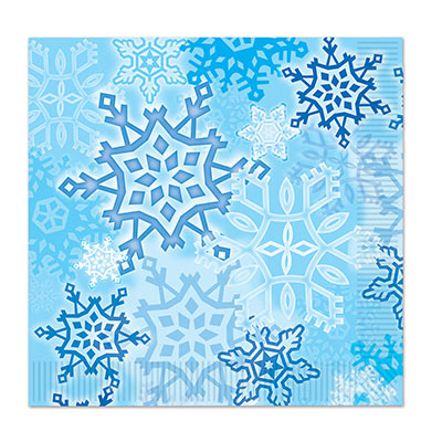 SHIMMERING SNOWFLAKES LUNCHEON NAPKINS PACK OF 16