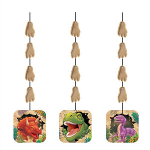 DINO BLAST HANGING CUT OUTS PACK OF 3