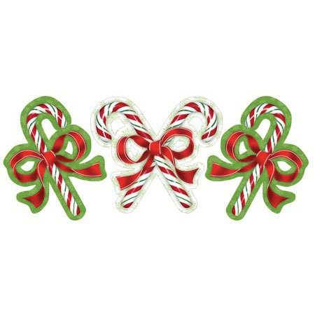 CANDY CANE CUT OUTS ASSORTED PACK OF 3
