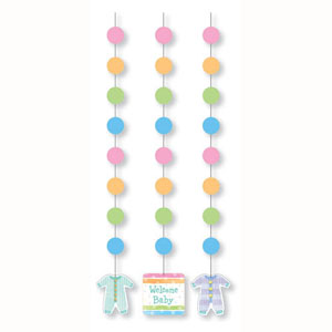 BABY CLOTHES THEME HANGING CUTOUTS PACK OF 3