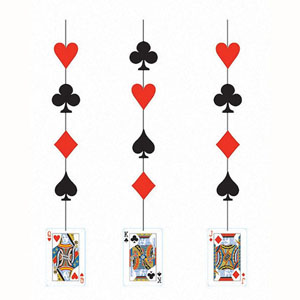 CASINO NIGHT HANGING CARD CUTOUTS/DANGLERS