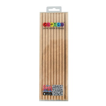 NATURAL KRAFT STRAWS - PACK OF 20