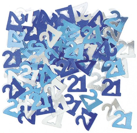 GLITZ BLUE & SILVER 21ST BIRTHDAY SCATTERS