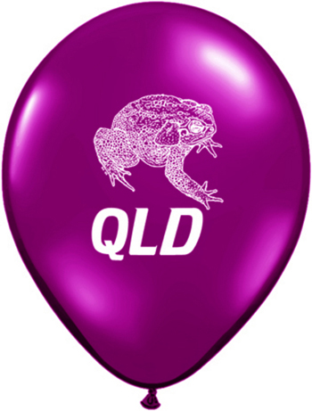 BALLOONS LATEX - QLD CANE TOAD MAROON - PK 6