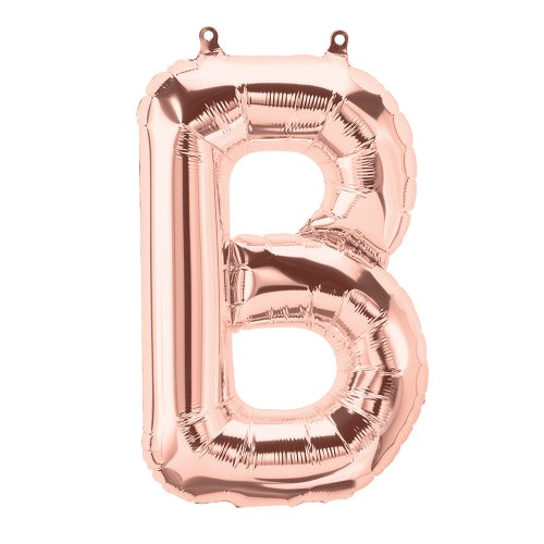 FOIL BALLOON AIR FILLED - ROSE GOLD 'LETTER B'