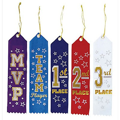 SOCCER FAN AWARD RIBBONS - PACK OF 5
