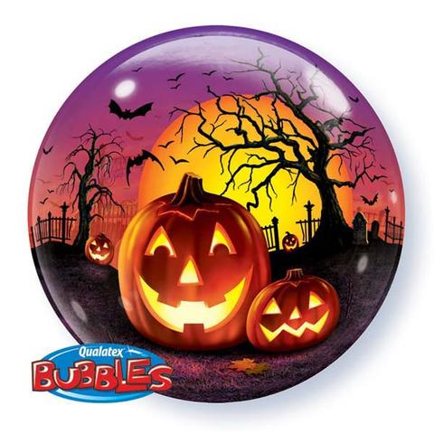BUBBLE BALLOON - HAUNTED HALLOWEEN JACK O\'LANTERN