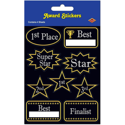 AWARD STICKERS - PACK OF 36
