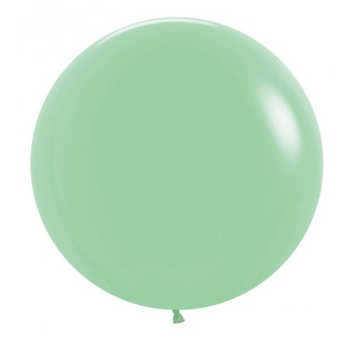 "BALLOONS LATEX - 24""/60CM MATTE PASTEL GREEN - PACK OF 4"