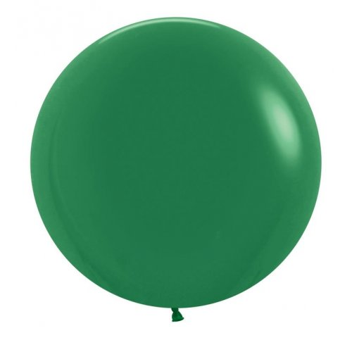"BALLOONS LATEX - 24""/60CM FOREST GREEN - PACK OF 4"