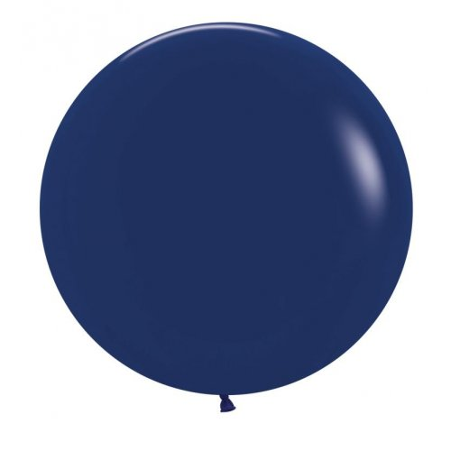 "BALLOONS LATEX - 24""/60CM NAVY BLUE - PACK OF 4"