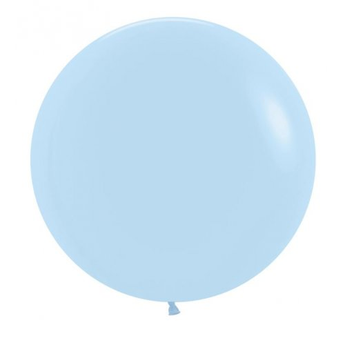 "BALLOONS LATEX - 24""/60CM MATTE PASTEL BLUE - PACK OF 4"