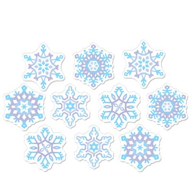 SNOWFLAKE MINI CUT OUT PACK OF 10