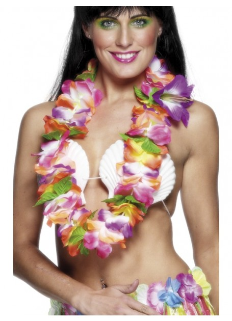 HAWAIIAN FLOWER LEI - THICK & BRIGHTLY COLOURED