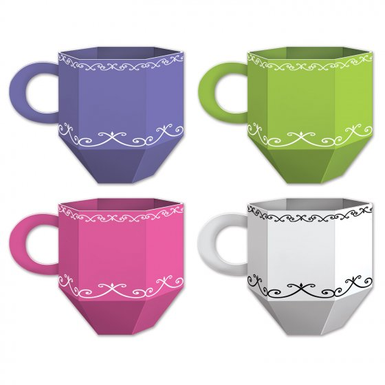 TEA CUP TABLE CENTREPIECES OR PARTY FAVOUR BOXES - PACK OF 3