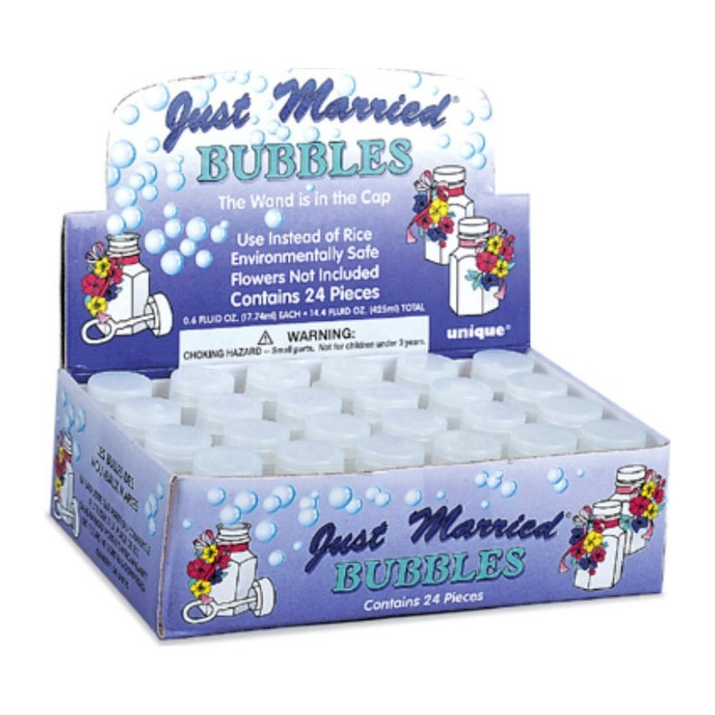 PARTY BUBBLES BOX 24 - JUST MARRIED PLAIN