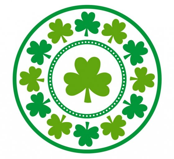 LUCKY SHAMROCK LUNCH PLATES - PACK OF 8