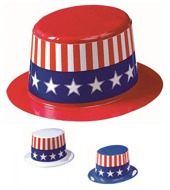 AMERICAN STARS AND STRIPES TOP HAT