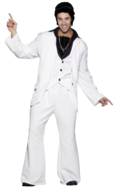 1970\'S DISCO MAN COSTUME - WHITE IN SIZE LARGE
