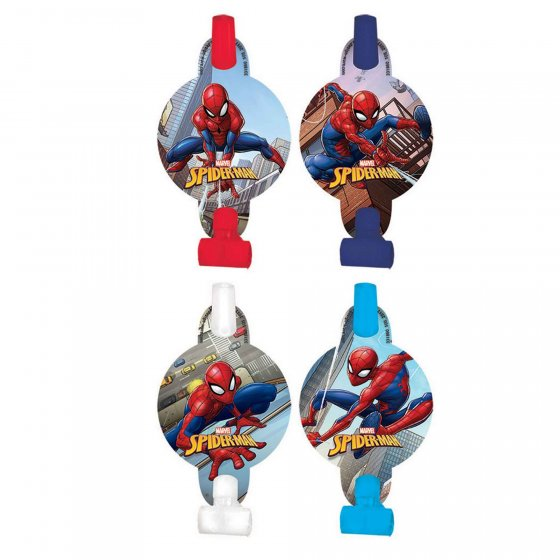 SPIDERMAN MEDALLION BLOW OUTS - PACK OF 8
