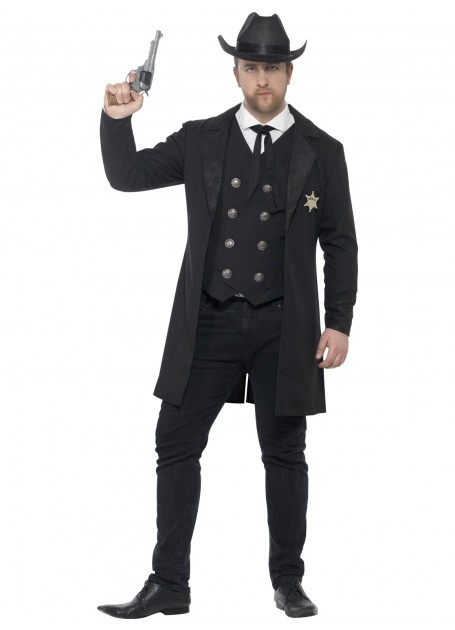 Image of Authentic Sheriff's Fancy Dress Costume  Medium