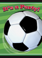 SOCCER INVITATIONS PACK OF 8