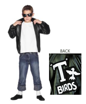 BOYS GREASE JOHN TRAVOLTA T-BIRD JACKET