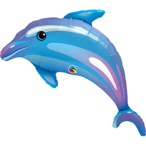 FOIL SUPER SHAPE BALLOON - BLUE DOLPHIN