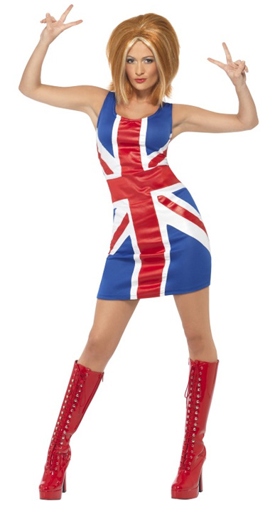 1960\'S UNION JACK FANCY DRESS COSTUME - MEDIUM