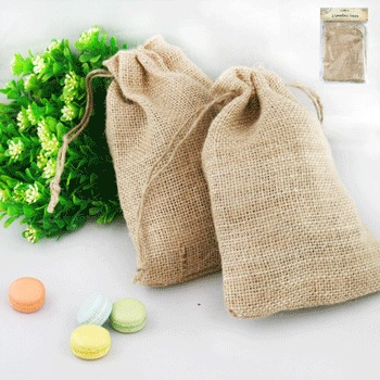 NATURAL HESSIAN PARTY LOOT BAGS LARGE - PACK OF 2