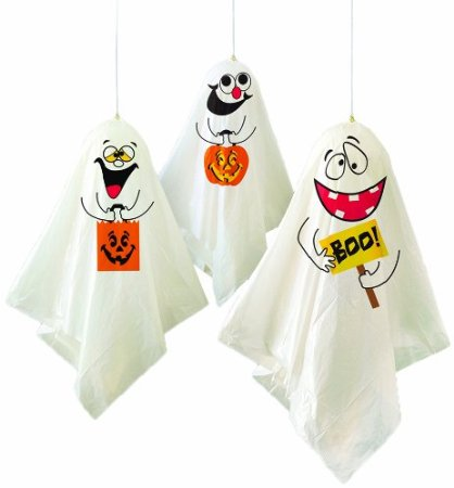 HANGING GHOST DECORATIONS PACK OF 3