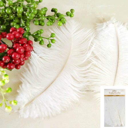FEATHERS - WHITE PACK OF 3
