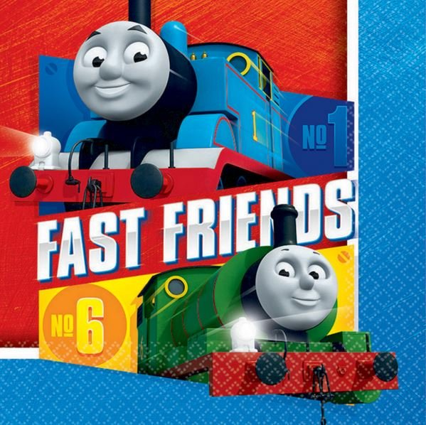 THOMAS THE TANK ENGINE NAPKINS - PACK 16