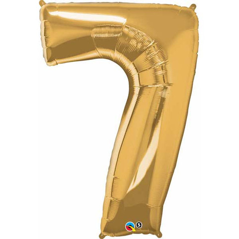 FOIL BALLOON SUPER SHAPE - NUMBER 7 GOLD