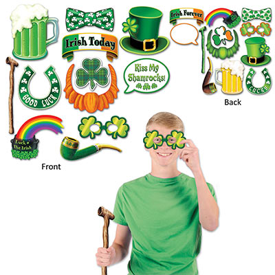 SELFIE PHOTO BOOTH PROPS - ST PATRICK'S IRISH PACK OF 12