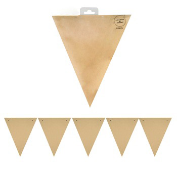 NATURAL KRAFT PARTY FLAGS - PACK OF 30 FLAGS