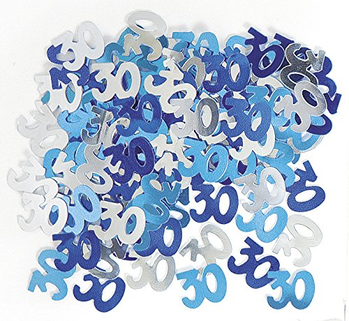 GLITZ BLUE & SILVER 30TH BIRTHDAY SCATTERS