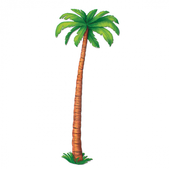 HANGING JOINTED CARDBOARD PALM TREE