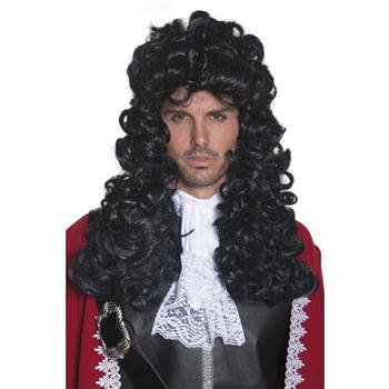 AUTHENTIC PIRATE LONG CURLY BLACK WIG