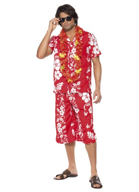 HAWAIIAN HUNK FANCY DRESS COSTUME